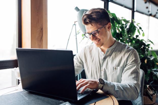 man-on laptop